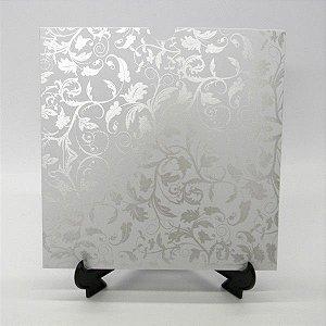 Envelope Branco floral pérola 01 Mod.EN2100 - 20x20cm