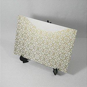 Envelope Pérola com Adamascado dourado Mod.EN1500 - 15,5x21cm