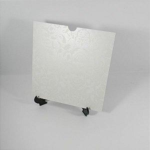 Envelope Pérola com floral branco 01 Mod.EN2100 - 20x20cm