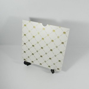Envelope Pérola com estampa de coroas Mod.EN2100 - 20x20cm
