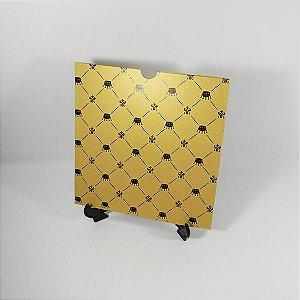 Envelope Dourado com estampa de coroas Mod.EN2100 - 20x20cm