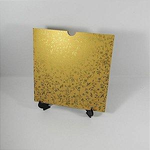 Envelope Dourado com estampa floral dourada Mod.EN2100 - 20x20cm