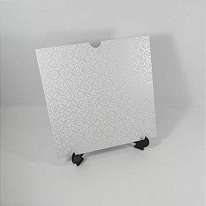 Envelope Branco com  adamascado perola  Mod.EN2100 - 20x20cm