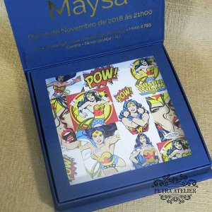 Convite Box Debutante - Mod. Mulher Maravilha