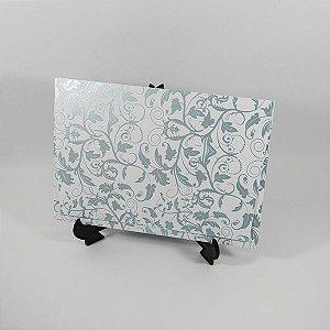 Envelope branco com estampa floral tiffany 01 Mod.EN3300 - tam:15x21,5cm