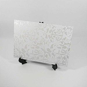 Envelope branco com estampa floral pérola 01 Mod.EN3300 - tam:15x21,5cm