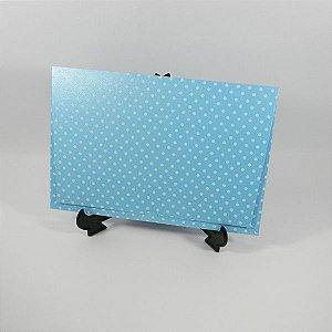 Envelope Perolado Azul  com poá Branco Mod.EN3300 tam:15x21,5cm