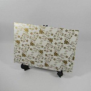 Envelope Perolado estampa floral 02 Mod.EN3300 tam:15x21,5cm