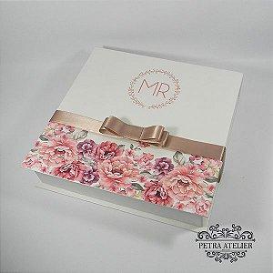Caixa de Padrinhos Rose com manual - 24x24x5cm