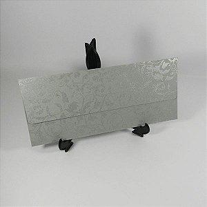 Envelope Modelo EN1400 Cinza com Prata Color Plus - tam:11x25 - 20 unids