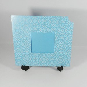 Envelope Modelo EN2020 Adamascado Perola Azul Claro com Branco - tam:20x20/ Janela Tam:8x8 - 20 unids