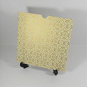 Envelope Luva Marfim com Adamascado dourado - EN2100  tam:20x20