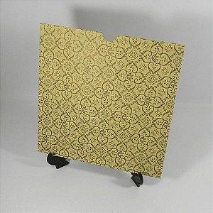 Envelope Luva Bege com Adamascado dourado - EN2100  tam:20x20