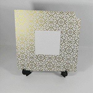 Envelope EN2020 Adamascado Branco com Dourado - tam:20x20 - 20 unids