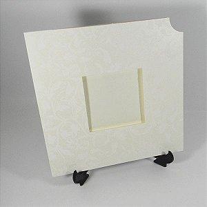 Envelope EN2020 Floral Pérola com Branco - tam:20x20 - 20 unids