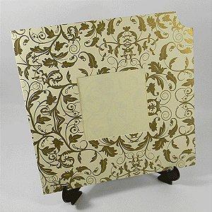 Envelope EN2020 Floral Marfim com Dourado - tam:20x20 - 20 unids