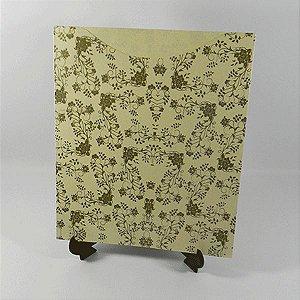 Envelope EN4300 Floral Ref 02 Marfim com Dourado - tam:19x23 - 20 unids