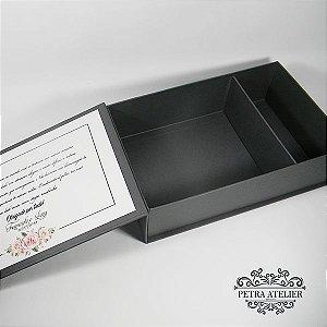 Caixa Padrinhos para necessaire e gravata 15,5x24x7cm