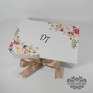 Caixa de Padrinhos Rosé 24x15,5x7cm