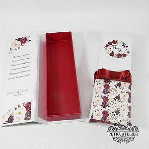 Caixa personalizada para convite- tam:22,5x6x3cm