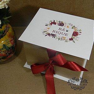 Caixa Rústica para caneca e bombons   tam:12x15x11