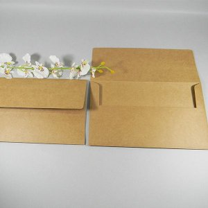 Envelope Kraft rústico para convites  Mod.EN4200 - 14,5x24cm