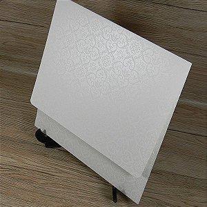 Envelope perolado com estampa adamascado - Mod. EN4000 - tam:19,5x19,5cm