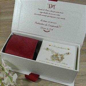 Convite gravata + pulseira