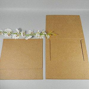 Envelope Linhão para convite rústico - EN4000 - 19,5x19,5cm