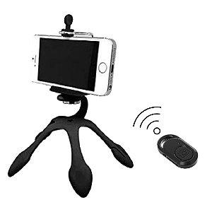 Mini Tripé Flexível Gekko + Botão Bluetooth