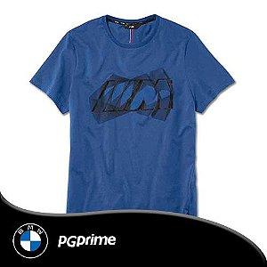 T-Shirt BMW M Logo Masculina Tam M Cor Azul