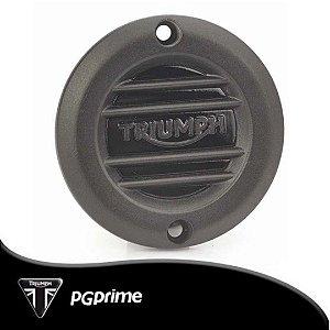 Emblema de Embreagem Preto Triumph Bonneville T120...