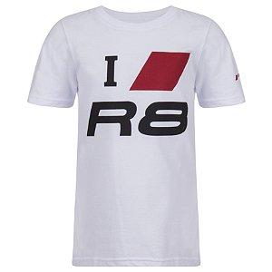 Camiseta Infantil I Love R8 - 6 Anos