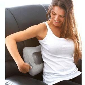 massageador eletrico modelo encosto com aquecimento e vibração