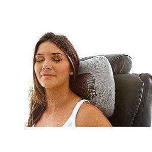 encosto vibrador e aquecido para massagem corporal