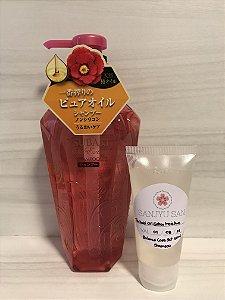 Tsubaki Oil Extra Moisture Balance Care Set Shampoo Fracionado 60ml