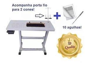 Tampo mesa e Estante Com Ferragem Para Maquina De Costura Domestica