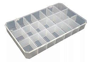 Caixa Organizadora 21 Divisórias - Plástica Cor: transparente