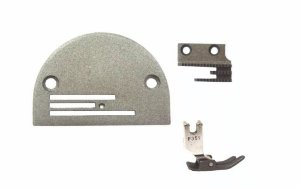 Chapa, Dente e Calcador  3 Carreiras da Máquina de Costura Reta Industrial Teflon Desliza Fácil