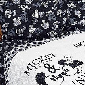 Kit colcha piquet solteiro mickey e minnie - Dohler