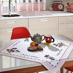 Toalha Chá Centro Mesa Quadrada  Mickey E Minnie - Dohler