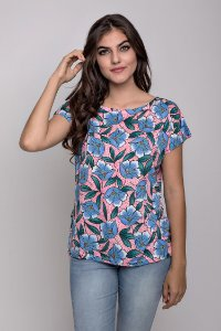 Blusa Visco Estampada