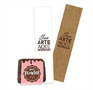 Cintas Rótulos Personalizadas para Brownie / Palha Italiana 4,5x20cm