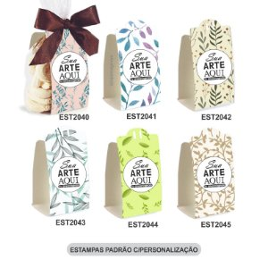 Embalagem para Biscoitos Estampas Padrão e c/Personalização – Mod.: EBE2001