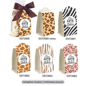 Embalagem para Biscoitos Estampas Padrão e c/Personalização – Mod.: EBE2002
