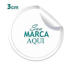 Etiqueta Adesiva 3x3cm Vinil Branco Personalizado – Mod.: ADE33