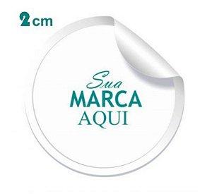 Etiqueta Adesiva 2x2cm Vinil Branco Personalizado – Mod.: ADE22