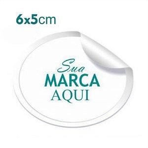 Etiqueta Adesiva 6x5cm Vinil Branco Personalizado – Mod.: ADE65