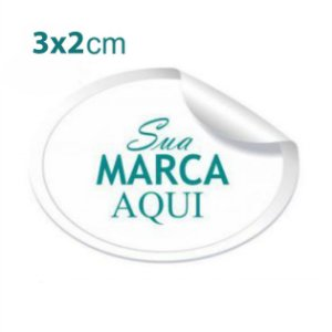 Etiqueta Adesiva 3x2cm Vinil Branco Personalizado– Mod.: ADE32