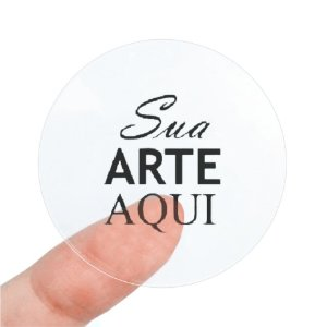 Etiqueta Adesiva 3.5x3.5cm Vinil Transparente Personalizado – Mod.: ADET3535